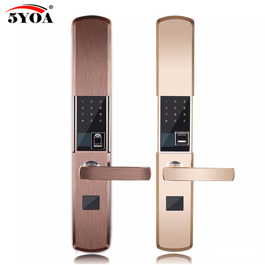 Fingerprint Lock For Home Anti-theft Door Lock Keyless Smart Lock With Digital Password RFID Unlocked купить недорого в Москве
