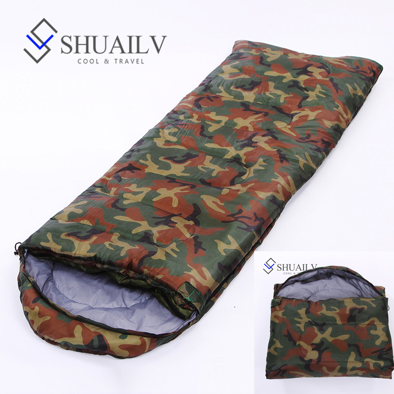 UltraLight Hiking Sleeping Bag Keep Warm Cotton Envelope Sleeping Bag Winter Adult Army Green Outdoor Camping Lazy Bag Laybag outdoor camping hiking survival water filtration purifier drinking pip straw army green