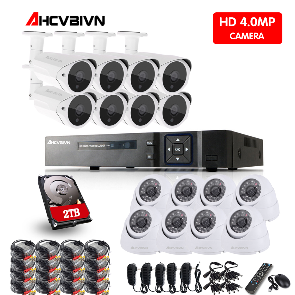 New  16CH 4.0MP AHD DVR CCTV System 4MP IR Night Vision Indoor Outdoor Camera Home Security Video Surveillance Kit 3TB HDDNew  16CH 4.0MP AHD DVR CCTV System 4MP IR Night Vision Indoor Outdoor Camera Home Security Video Surveillance Kit 3TB HDD