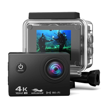 лучшая цена Action Camera 4K Ultra HD WIFI 16MP Sport Camera 1080P/30fps 170 Degree 2.0 inch LCD Diving Waterproof 30M DV Helmet HD Camera