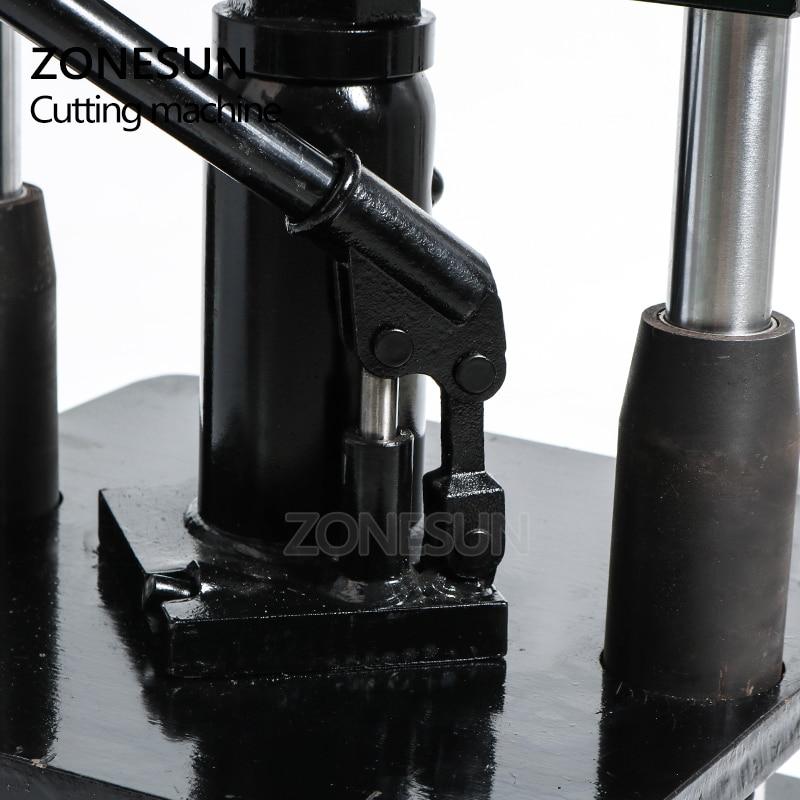 ZONESUN lederen Hydraulische handleiding sterven snijmachine fotopapier PVC/EVA blad mold cutter snijden sterven voor DIY papercraft - 2