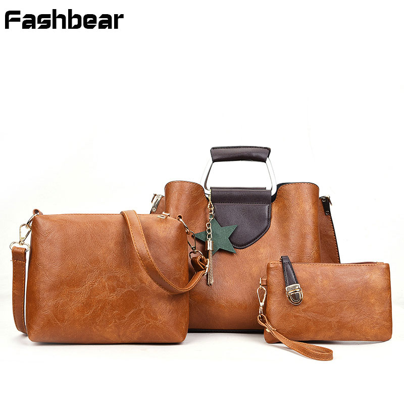 Women Bags Sets Causal PU Leather High Quality 3 PCS/Set Ladies Clutch +Crossbody Bags + Shoulder Bag Brand Designer handbags 2016 new women leather handbags fashion shoulder bag high quali women s messenger bags ladies crossbody bag clutch wallet 2 sets