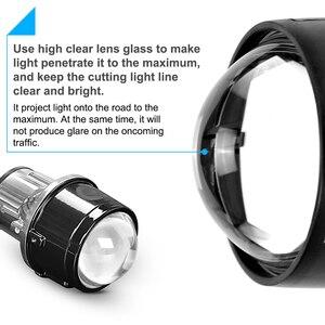 Image 2 - 金属2.5インチバイキセノンhid自動車スタイリングフォグライトプロジェクターレンズhi/loユニバーサルランプ車レトロフィットH11 hid led電球