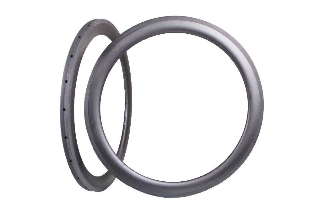 Fibers Toray 700C carbone vélo jantes 56mm tubulaire avant et arrière aero rayons 20 h/24 h de carbone 56mm jantes