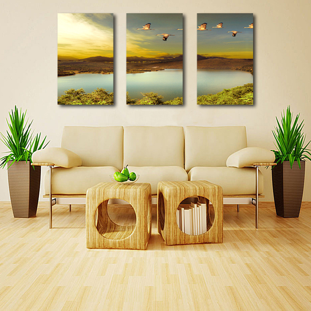3 Pieces/Set Wild Geese To Fly South Art Pictures Wall Art Painting ...