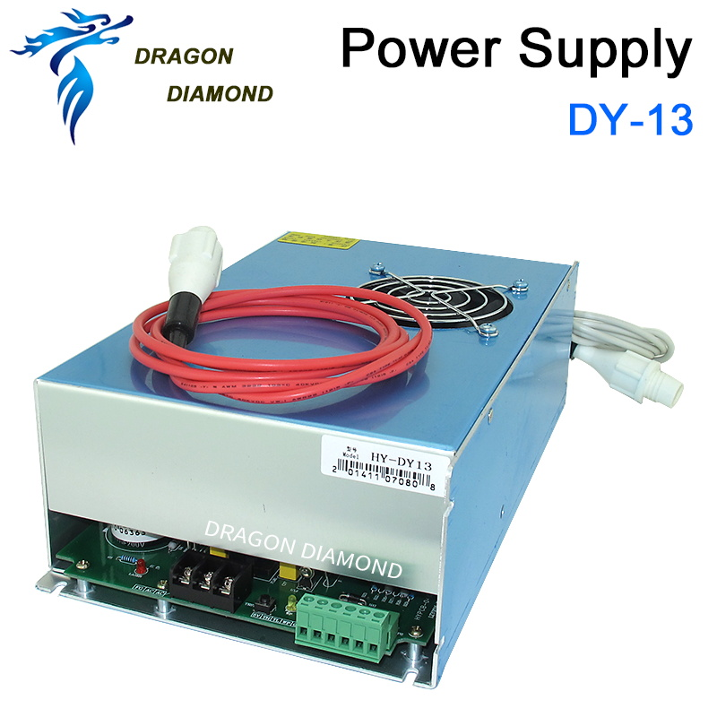 DY13 Reci co2 laser engraving cutting machine laser power supply 100W for reci W2 co2 laser tube стоимость