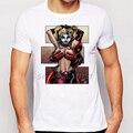 Desenho Em Quadrinhos Deadpool engraçado Não É Brincadeira e Harley Quinn T-shirt de Impressão Dos Homens/Menino Moderno Novidade Tee de Manga Curta camisa Topos