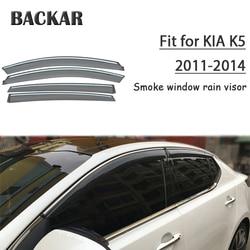 Backar Auto szyby samochodowe deszcz wiatr dla Kia K5/Optima 2011 2012 2013 2014Sun tarcza deflektor Visor wykończenia akcesoria wszystkie na temat pogody