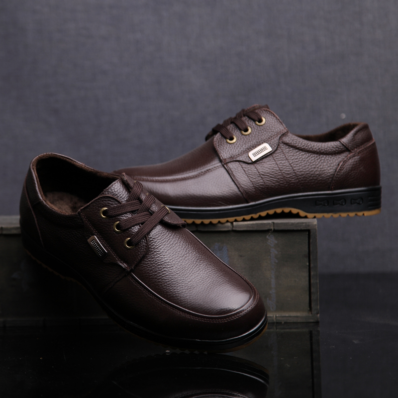 Black Brown Men's Leather Shoes 2018 New England Leather Shoes - Men's Shoes - Photo 3