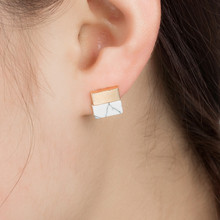 WNGMNGL Vintage National Stone Resin Round Square Triangle Earring 2018 New Stud Earrings For Women Charm Fashion Jewelry carvejewl stud earring round triangle resin stone collection straw weaving stud earrings for women jewelry new fashion earrings