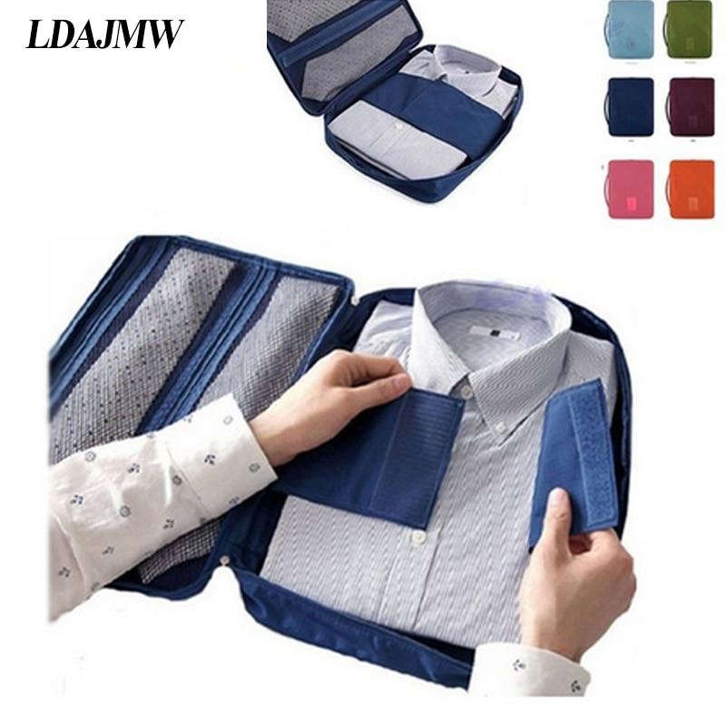 LDAJMW Neausts audums Modes vīriešiem ceļojuma čemodānu organizators Bagāžas uzglabāšanas soma Krekla krūšturis Apģērbu somiņa Portatīvais maisiņš