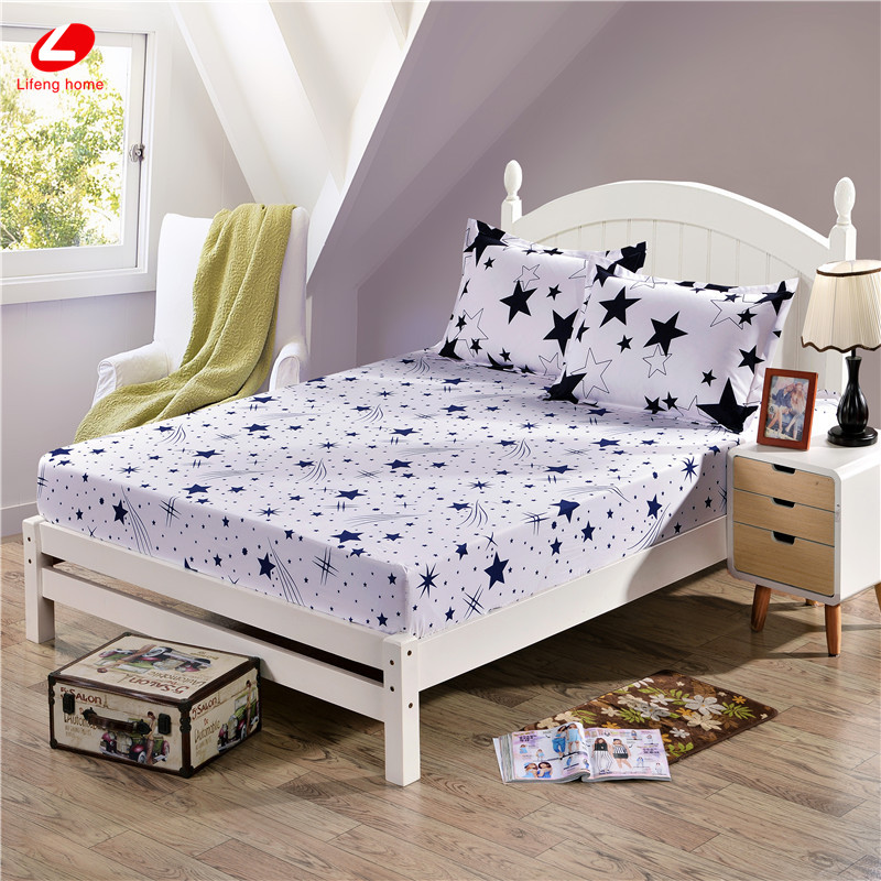 Home textile bed sheet sheet flower mattress cover printing bed sheet elastic rubber bedclothes 180*200cm summer bedspread band 35