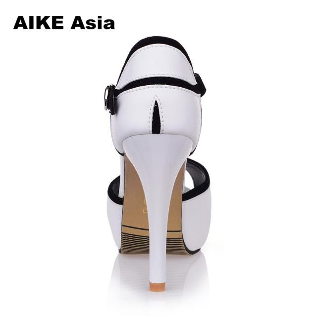 Summer Hollow Buckle Women's Shoes European And American Fight Color Fish Mouth Fine With High Heels Young Daily Shoes #A6619 3
