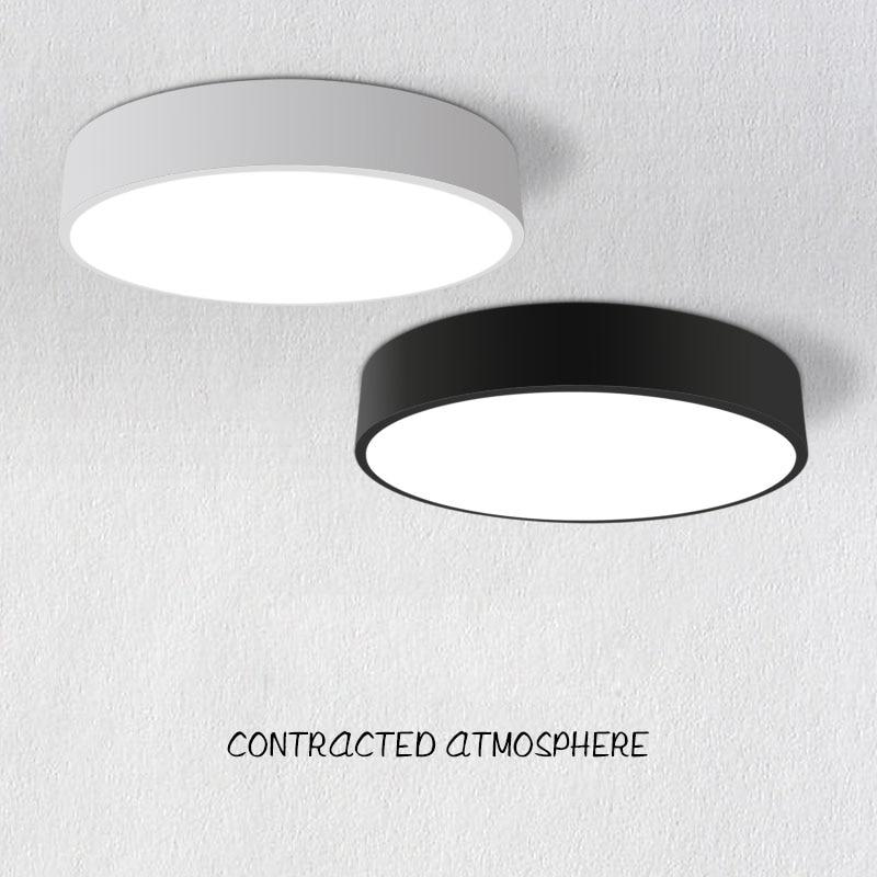 Plafonniers acryliques modernes de Led rond blanc/couleur noire 18 W/24 W/36 W/48 W pour l'appareil d'éclairage à la maison de chambre à coucher de salon de cuisine