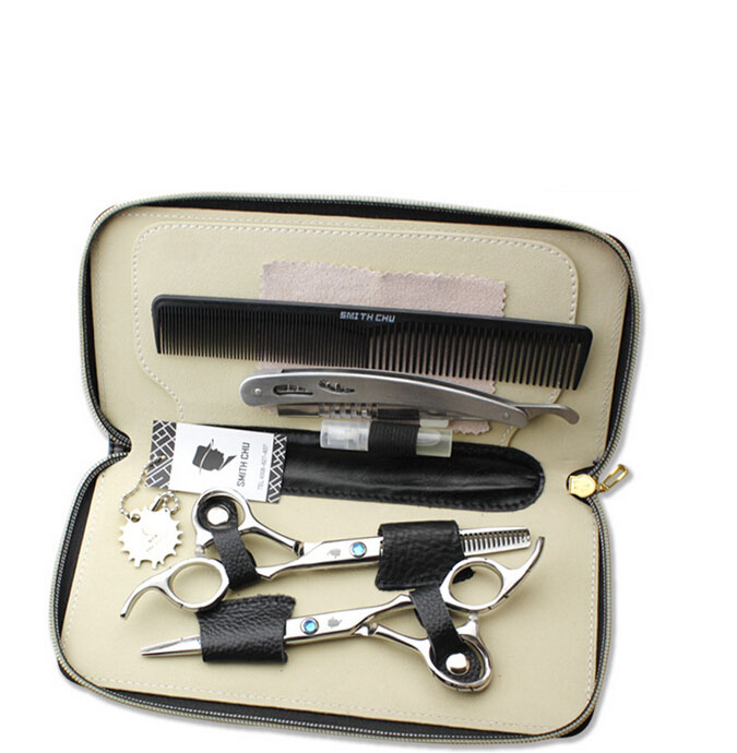 SMITH CHU 6.0 INCHES Professional barber hair cutting scissor and thinning scissors HM100 smith chu professional barber scissors hairdressing scissors hair cutting tool combination package hm101