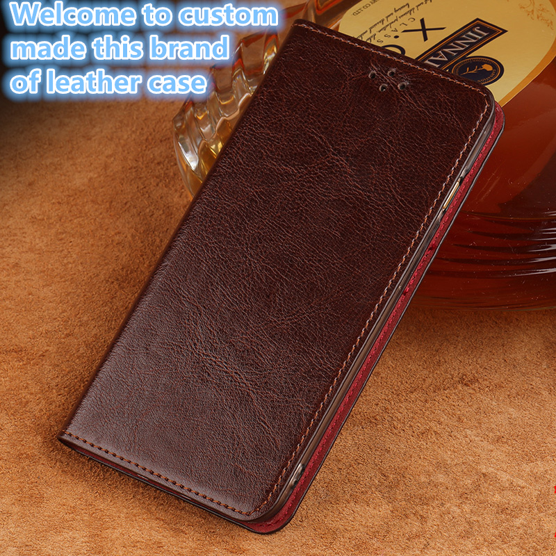 QH12 Genuine Leather Flip Case For Xiaomi Redmi Note 5 Pro(5.99') Phone Case For Redmi Note 5 Pro Flip Cover With Kickstand