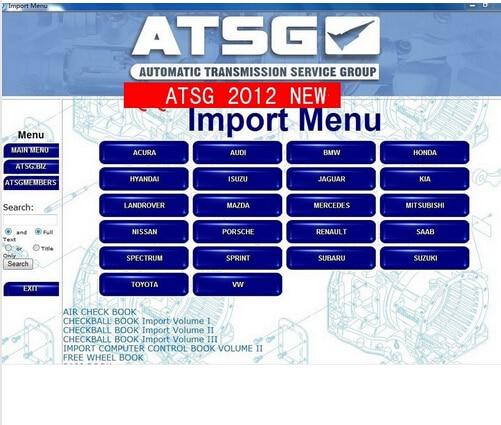 Новые инструкции по ремонту ATSG 2012 (информация об автоматической передаче данных)