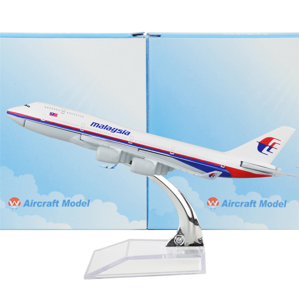 Malaysia Airlines Boeing 747-400 16cm model airplane kits child Birthday gift plane models toys Christmas gift