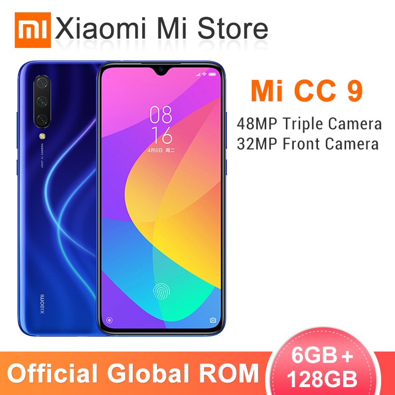 In Stock Global ROM Xiaomi Mi CC9 CC 9 6GB 128GB Mobile Phone Snapdragon 710 6.39