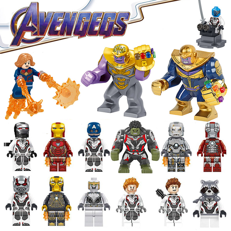 Thanos Captain Marvel Avengers 4 Endgame Block Iron Man Hulk Spiderman Captain America Building Blocks Figures Toys For Kids