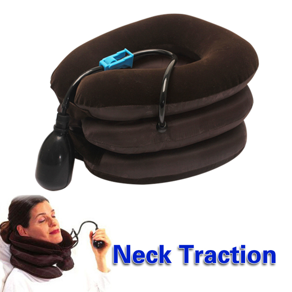 Health Care Air Cervical Neck Traction Soft Brace Device Unit Headache Head Back Care Shoulder Neck Pain Relief Tool neck support braces household cervical collar air traction therapy device relax pain relief tool universal size health care