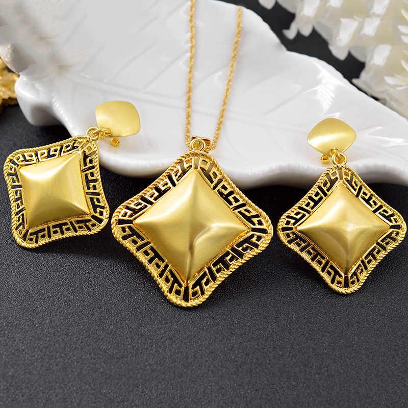 ZEA Liebe Schmuck Großen Platz Schmuck Sets Für Frauen Ohrringe Anhänger Halskette Für Party Hochzeit Schmuck Dubai Schmuck Erkenntnisse
