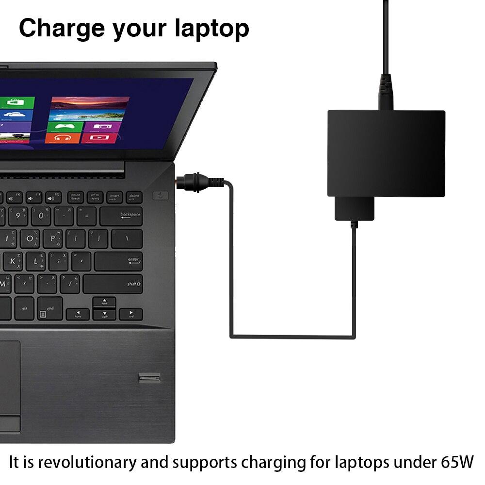USB-laddare Snabbladdning Snabbladdare 3,0 5-ports USB-adapter 65W - Laptop-tillbehör - Foto 5