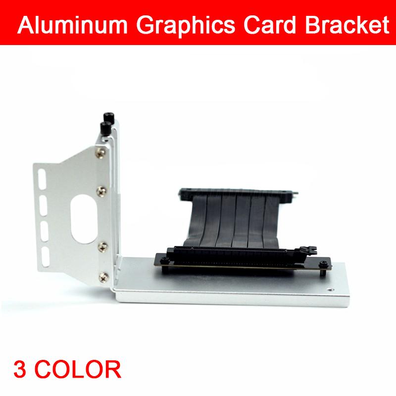 Aluminum Graphics Video Card Bracket Vertical Vertical Transfer Frame Support With PCI-E 3.0 X16 Extended Cable
