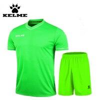 Kelme 2016 verano Club Camisetas de Soccer deporte Sets fútbol Niños uniformes entrenamiento voetbal tenue Kids kit camisa 63