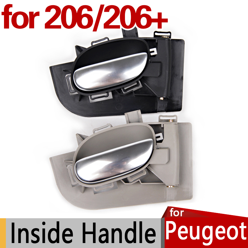 for Peugeot 206 Inside Door Handle Accessories 206SW 206CC 206+ Original Replacement Parts Car Styling балку на пежо 206