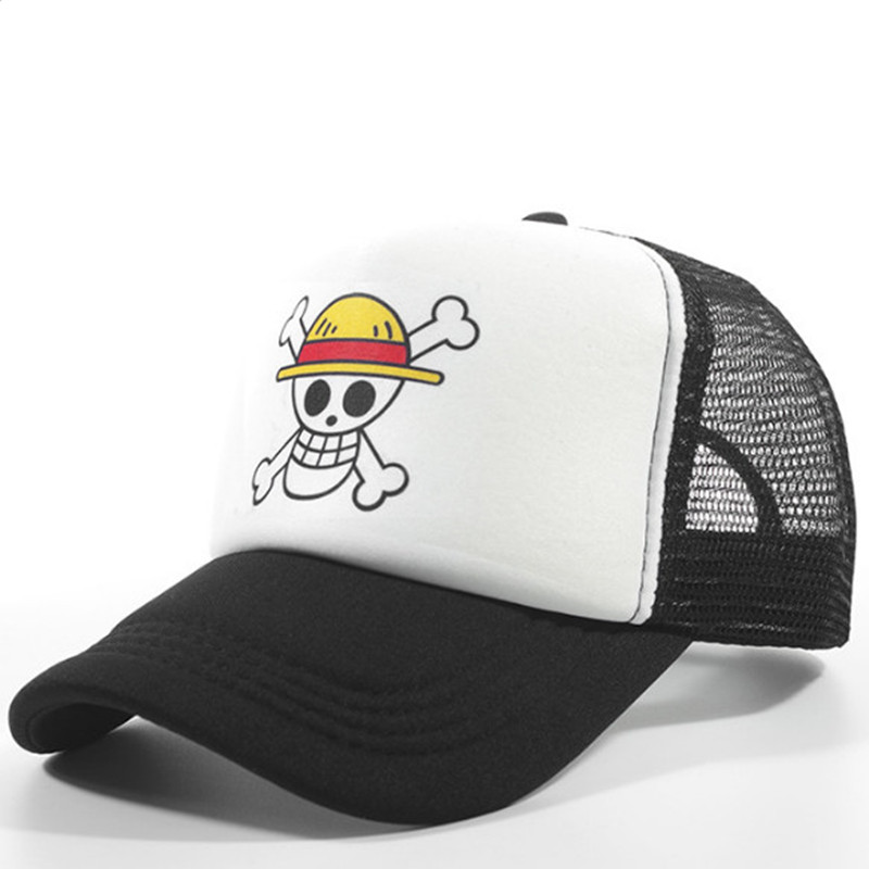 <font><b>One</b></font> <font><b>Piece</b></font> Baseball Cap Japanese Anime Monkey D. <font><b>Luffy</b></font> Cosplay Hats Caps Snapback Caps Flat Hat Adult Gifts For Children image