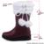 Tamaño grande 32-50 el Encanto De La Piel Plana Con Botas de Nieve para Las Mujeres Resbalón en Los Zapatos de Mujer de Punta Redonda Complemento Cálido Otoño Invierno Mujeres Botas de Piel