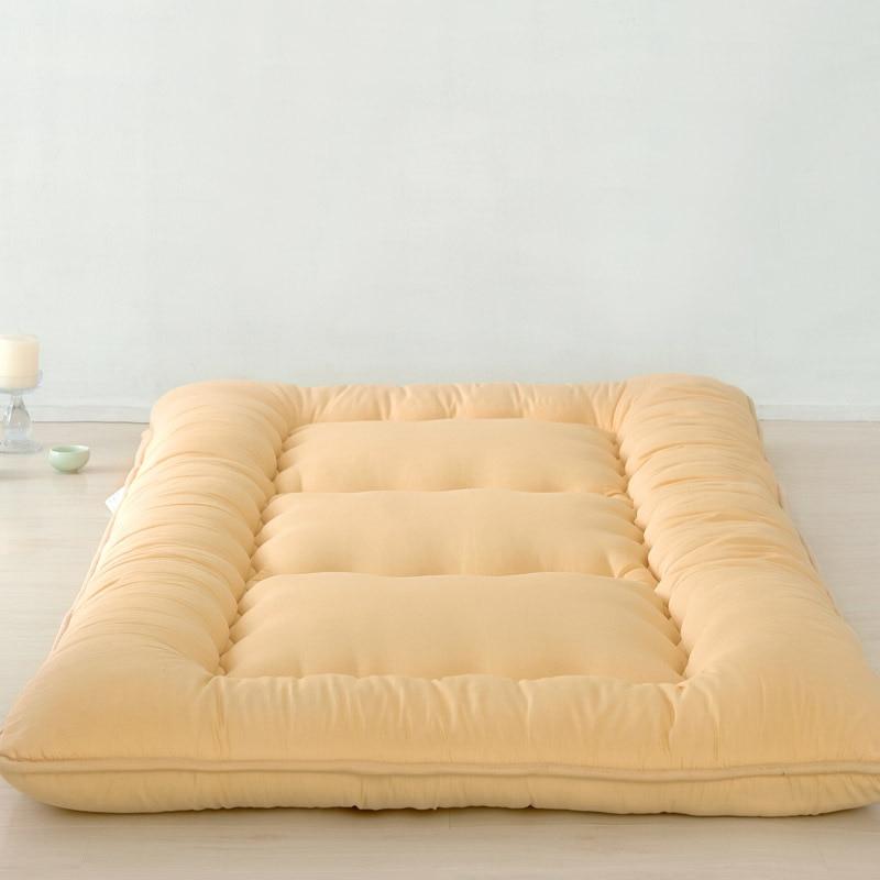 Plain thick tatami mattress Foldable mats Single and double student mattress men double button plain blouse
