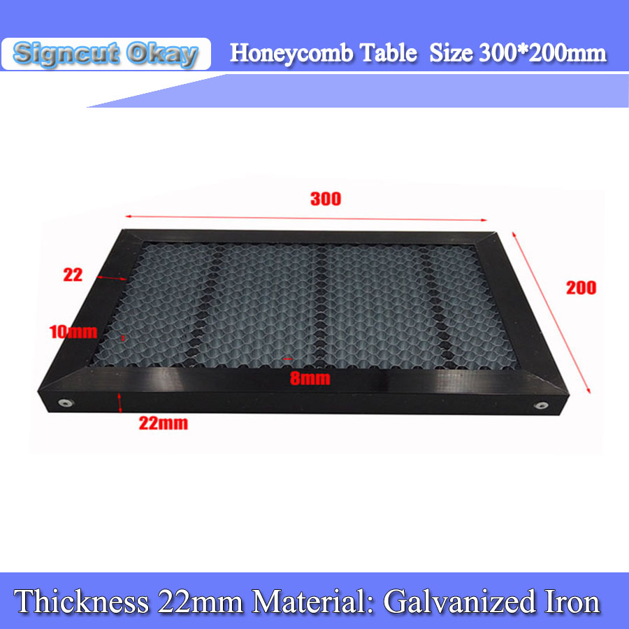 Free Shipping 200*300 Mm Laser Honeycomb Working Table For Free Laser Cutter Machine Laser Table Size Customized
