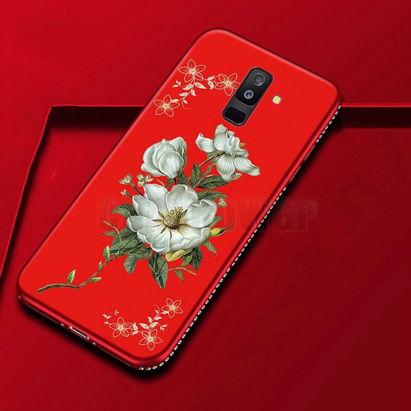Case For Samsung Galaxy A6 A8 S8 S9 J2 Pro J4 J6 Plus J8 2018 J3 J5 J7 Neo Core 2017 2016 Grand Prime Note9 3D Floral Soft Cover