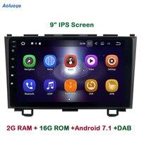 Aoluoya 9 ips 2 Гб оперативная память 4 ядра Android 7,1 Автомобильная dvd навигационная система плеер для Honda CR V CRV 2007 2008 2009 2010 2011 радио DAB