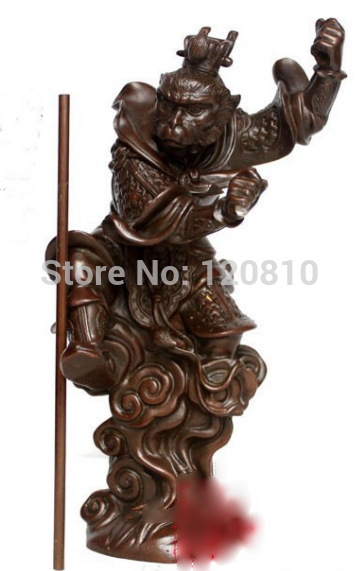10 Inch Chinese Mythology < Journey To The West  Monkey King Bronze Statue