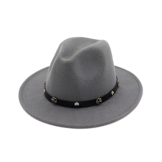 bd0e730bf584e 2018 New Style Soft Women Vintage Wide Brim Wool Felt Bowler Fedora Hat  Floppy Cloche Men Women s Large Gangster hat MNDJS009