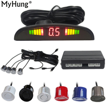 Human Voice With Russian Parking Sensor Car Assistance Backup Radar Monitor System 4 Car-styling