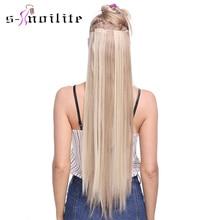 S-noilite 8 шт./компл. 18 зажимы 26 дюймов Клип В Наращивание волос Синтетические Жаростойкие Длинные прямые волосы для наращивания