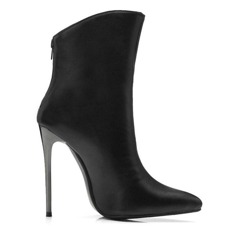 Mode Courtes White En Peluche Cheville Court Style Taille Confortable European Pointu Femme American Bottes Chaussures black Loisirs Mingdilin Grande ITxH5qFnHS