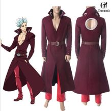 Anime The Seven Deadly Sins Fox's Sin of Coat Pant Outfit Greed Ban Cosplay Costume Full Set Suit(China)