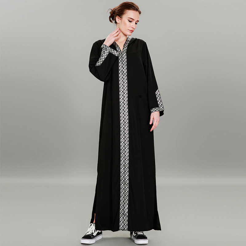 abayas for women 2019 UAE Turkey Women Long Hoodies Muslim Maxi Dress Robe Abaya Dubai Moroccan Kaftan Turkish Islamic Clothing
