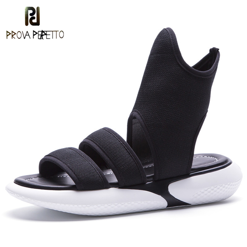 Prova Perfetto 2018 Summer Women Platform Sandals Flat Gladiator Sandals Women Fashion Hook Loop Wedges Shoes Woman Causal Shoes women creepers shoes 2015 summer breathable white gauze hollow platform shoes women fashion sandals x525 50
