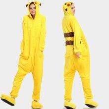3971219779ee3f Kigurumi jednorożec Onesie dorosłych Pikachu kobiet Pijama piżamy flanelowe  ciepłe miękkie bielizna nocna ogólnie Onepiece kombinezon
