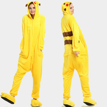 Kigurumi Unicorn Onesie Adult Pikachu Women Pijama Pajamas Flannel Warm Soft Sleepwear Overall Onepiece Jumpsuit 2019The New