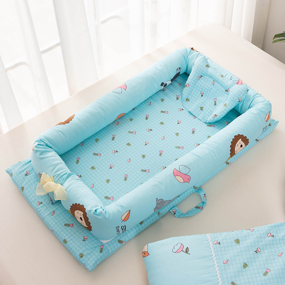 Foldable Sleeping Crib Bed Portable Crib Bassinet Basket Baby Travel Bed Baby Bumper Baby Crib Bedding Sets 90*50*15cm