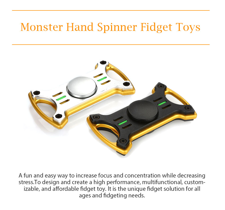 Do Dower Monster Hand Spinner Spinning Top Fidget Toys with R188 Steel Bearing Educational Spinner Hand Toys for Kids Adults