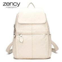 Модные летние Цвет 100% Пояса из натуральной кожи Повседневное Для женщин Рюкзаки краткое Повседневное рюкзак для ноутбука сумка женская карман для девочек школьный