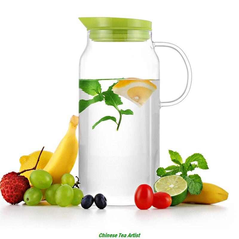 SAMADOYO Jednoduchý design Horký výprodej Velký skleněný džbán s víkem filtru 1300 ml, láhev s ledovou vodou, moderní čajová infuzní láhev